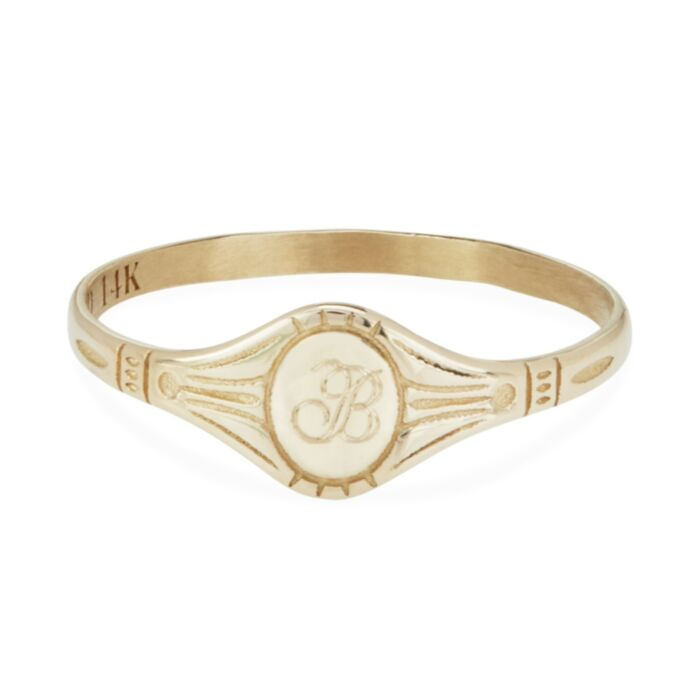 Baby Cygnet Ring, Yellow Gold
