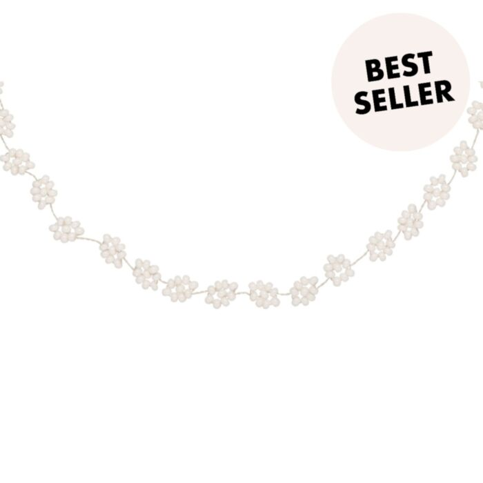 Daisy Chain Necklace, White