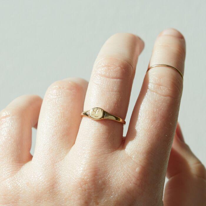 Henrietta's Treasure Mini Signet Ring image