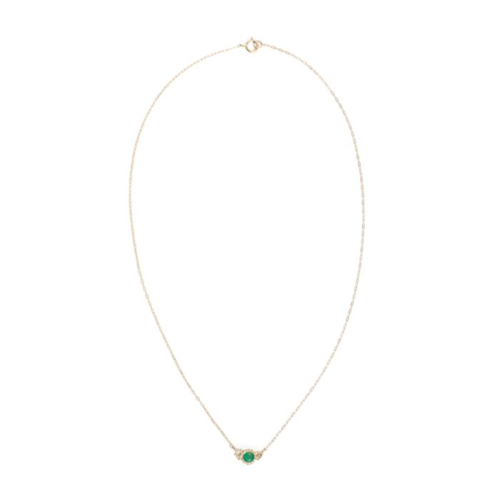 Emerald Diamond Twinkle Necklace image