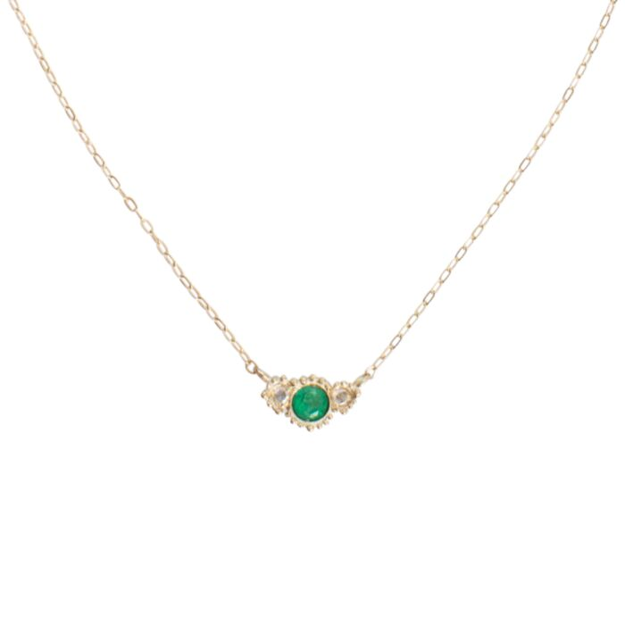 Emerald Diamond Twinkle Necklace