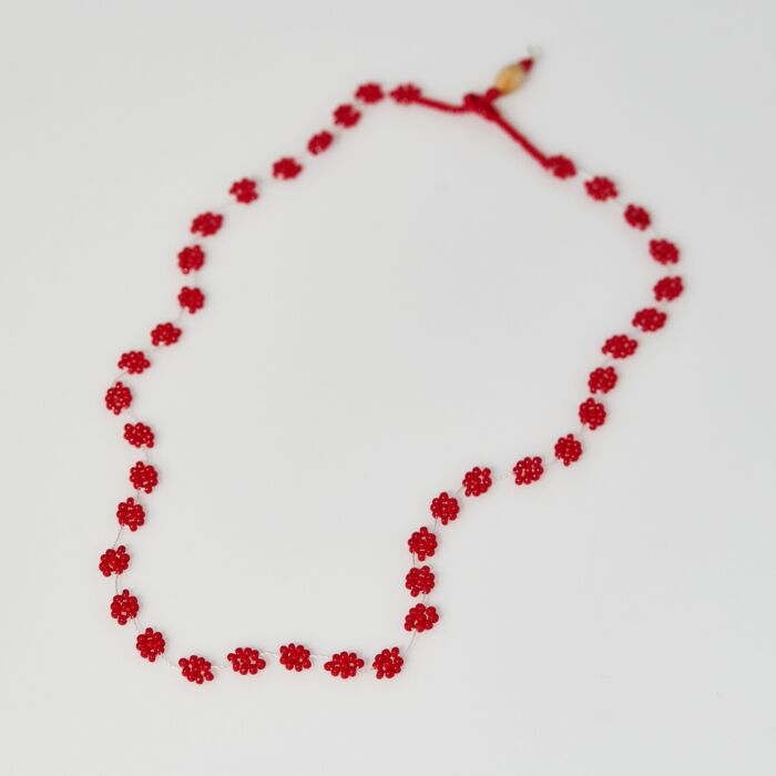 Daisy Chain Necklace, Red image