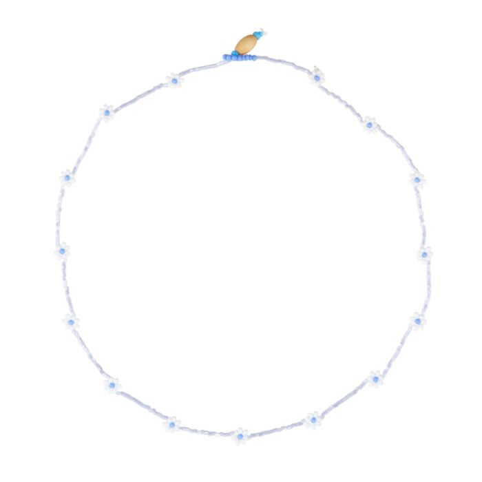 Daisy Chain Necklace, Winter Blue image