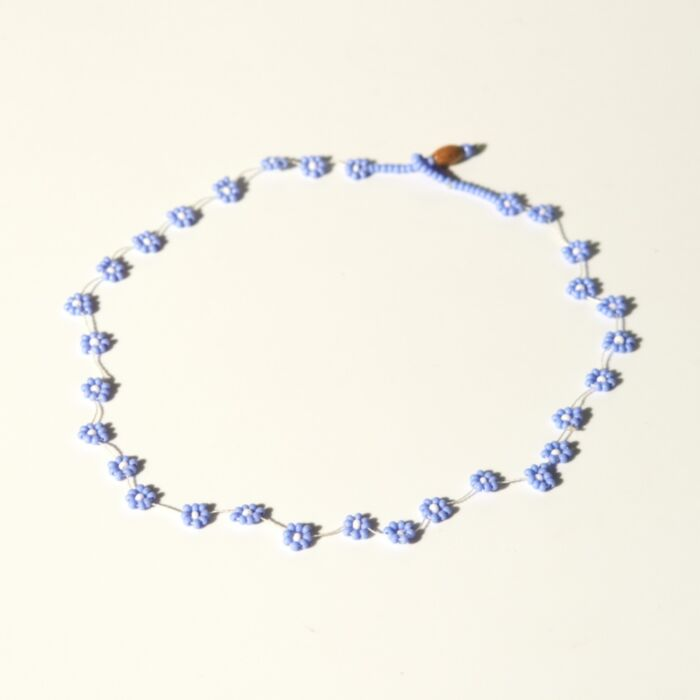 Daisy Chain Necklace, Lavender image