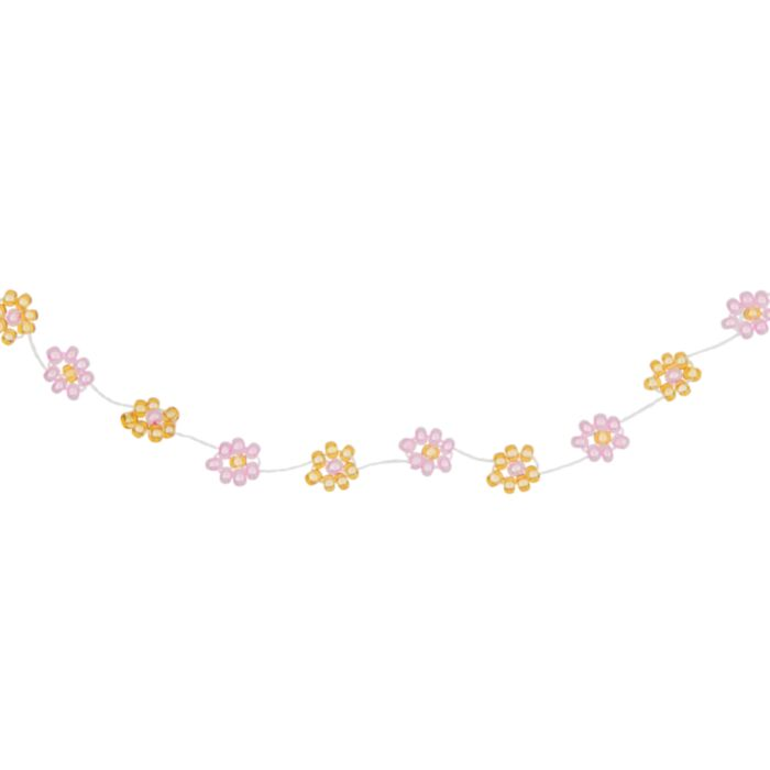 Daisy Chain Choker, pink and gold