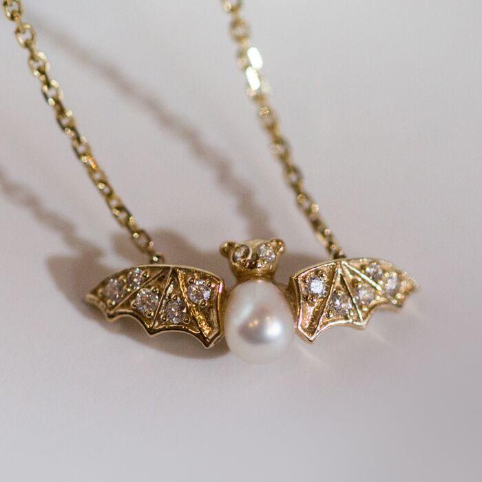 Jeweled Bat Necklace image