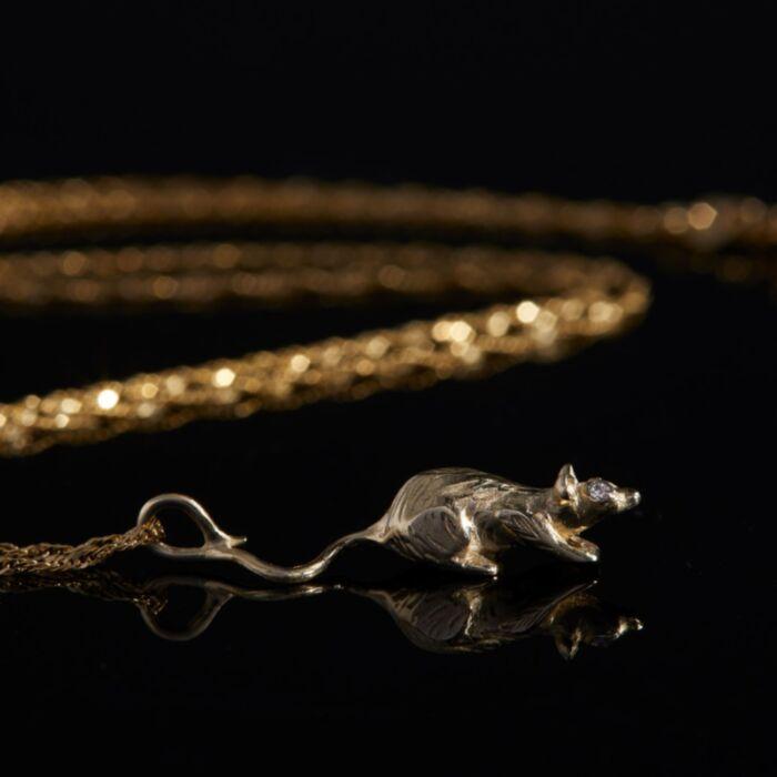 Starry-Eyed Rat Necklace image