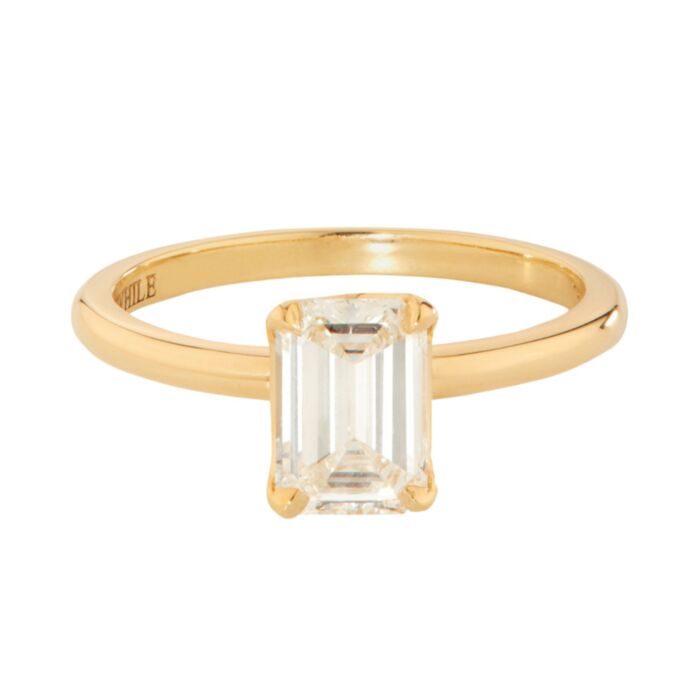 Deco Solitaire Ring