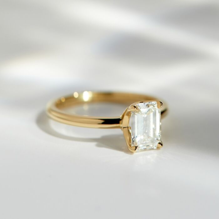 Deco Solitaire Ring image