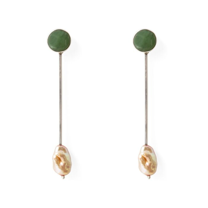 Sway Earrings, Jade & Pearl image