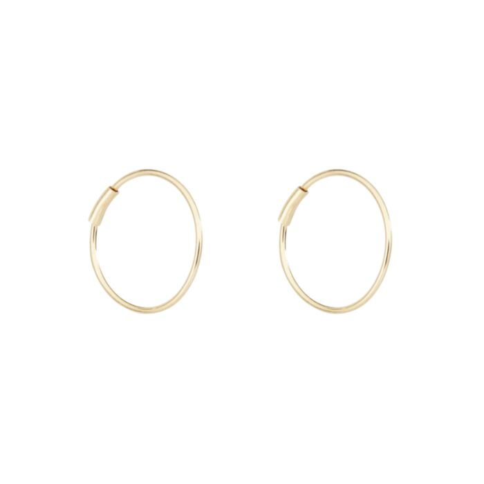 Filament Hoop, Yellow Gold (single)