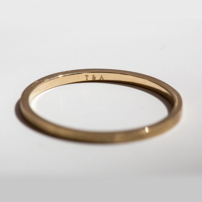 Catbird Classic Wedding Bands, Flat Band, 1mm image