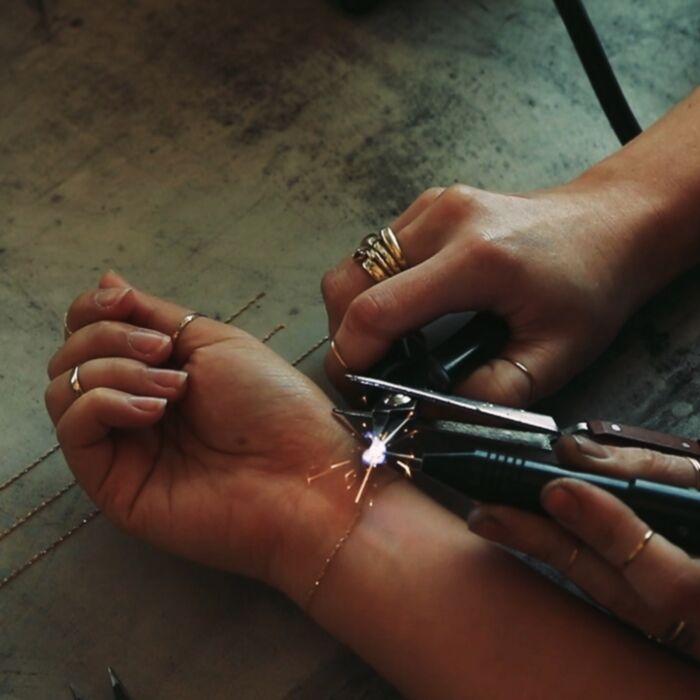 Forever Tiny Corsage Bracelet, Rose Gold image