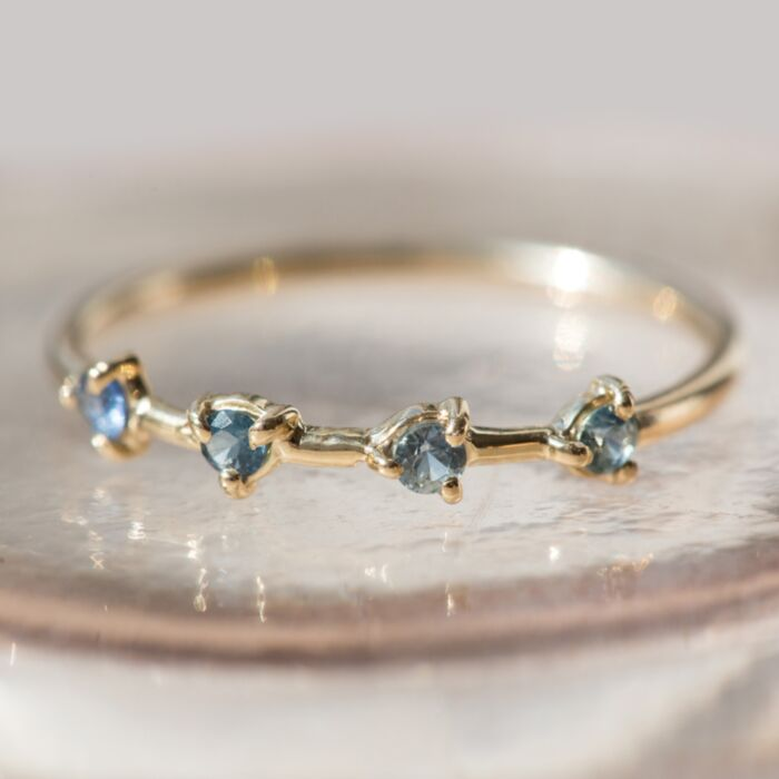 Four-Step Ring, Sapphires image