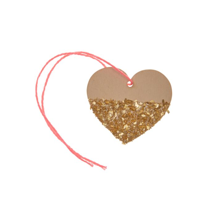 Sparkle Heart Gift Tag, Gold image