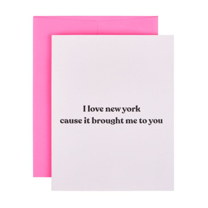 New York Brought Me to You Card