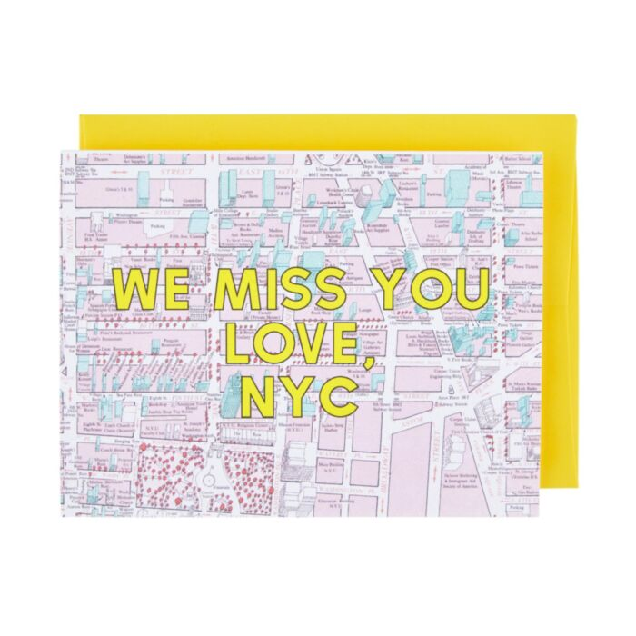 NYC Misses You Card