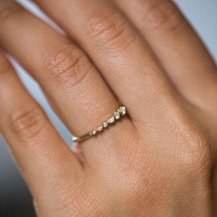 Diamond Shooting Star Ring