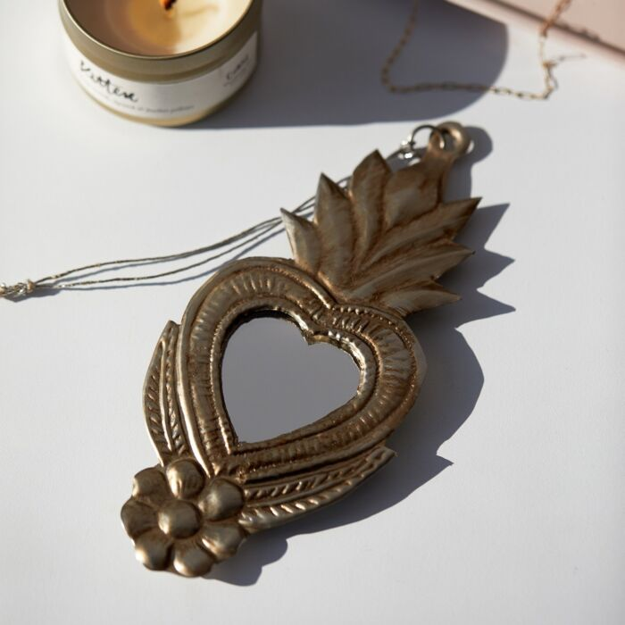 Tin Heart Mirror image