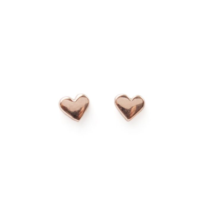 Classic Heart Stud, rose gold (single) image