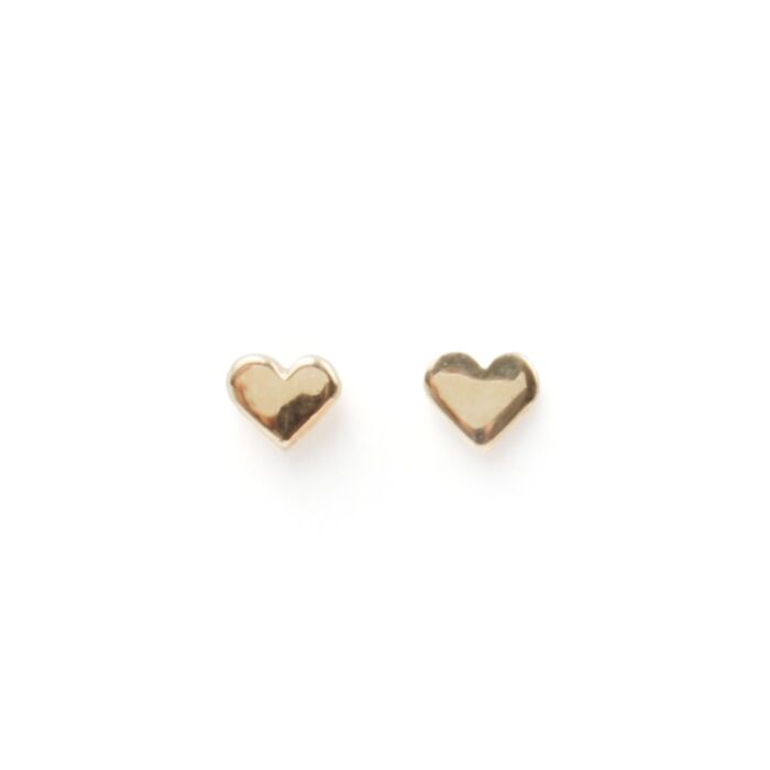 Classic Heart Stud, yellow gold (single) image