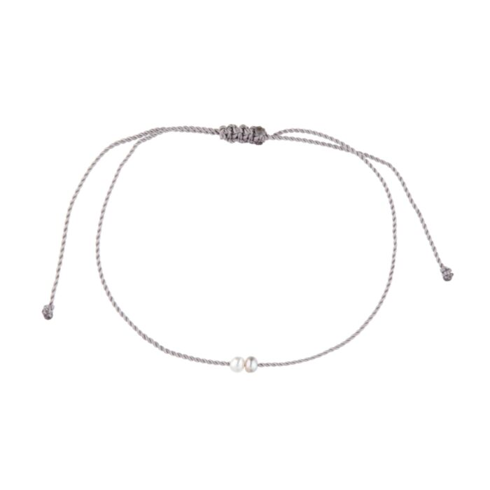 Two Souls Bracelet, pale gray