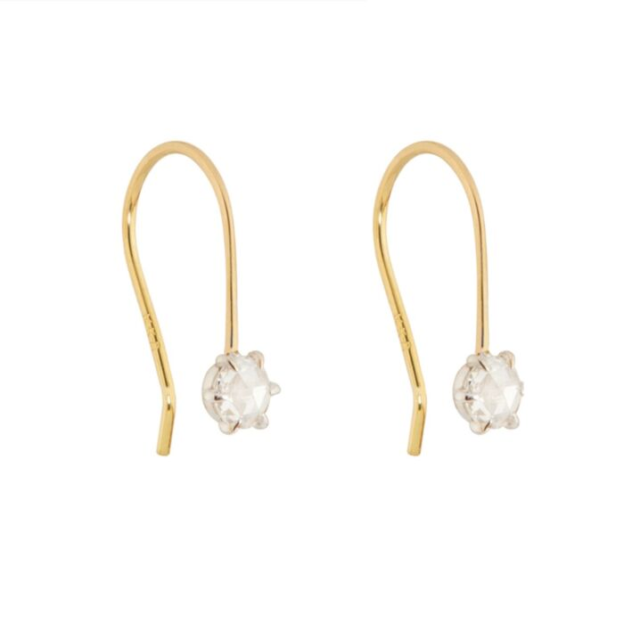 Equinox Rose Cut Diamond Earrings
