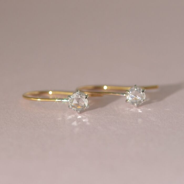 Equinox Rose Cut Diamond Earrings image