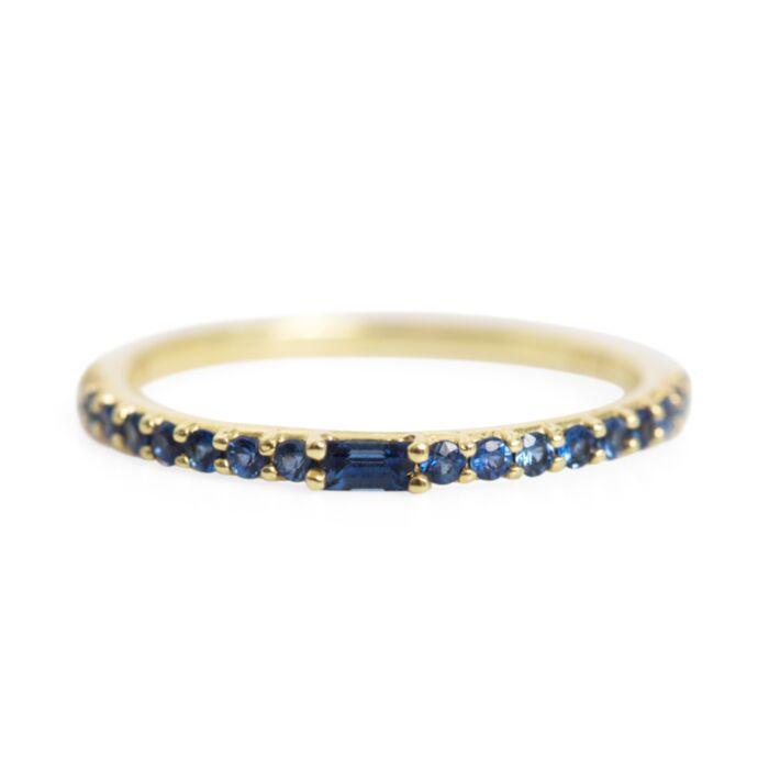Manava Blue Sapphire Band