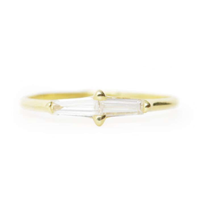 Perryn Diamond Baguette Ring