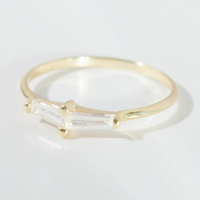 Perryn Diamond Baguette Ring image