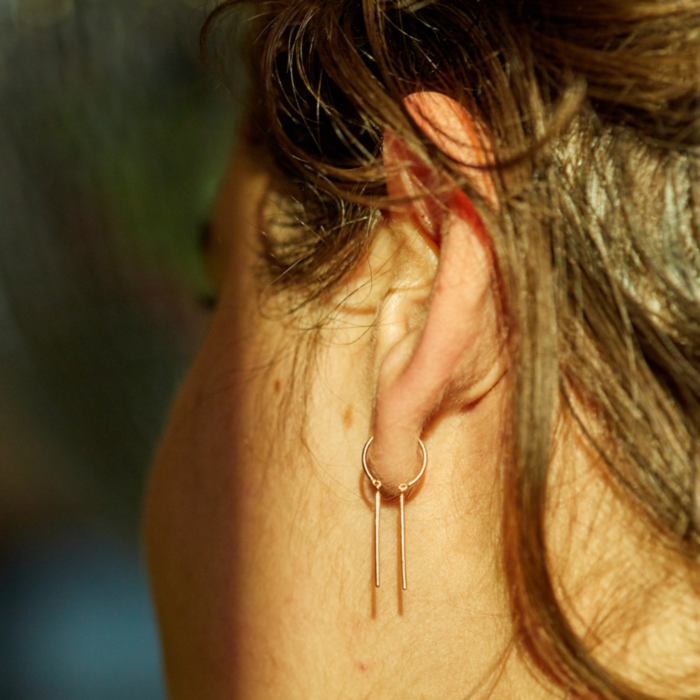 Chime Earring, Yellow Gold (SINGLE) image