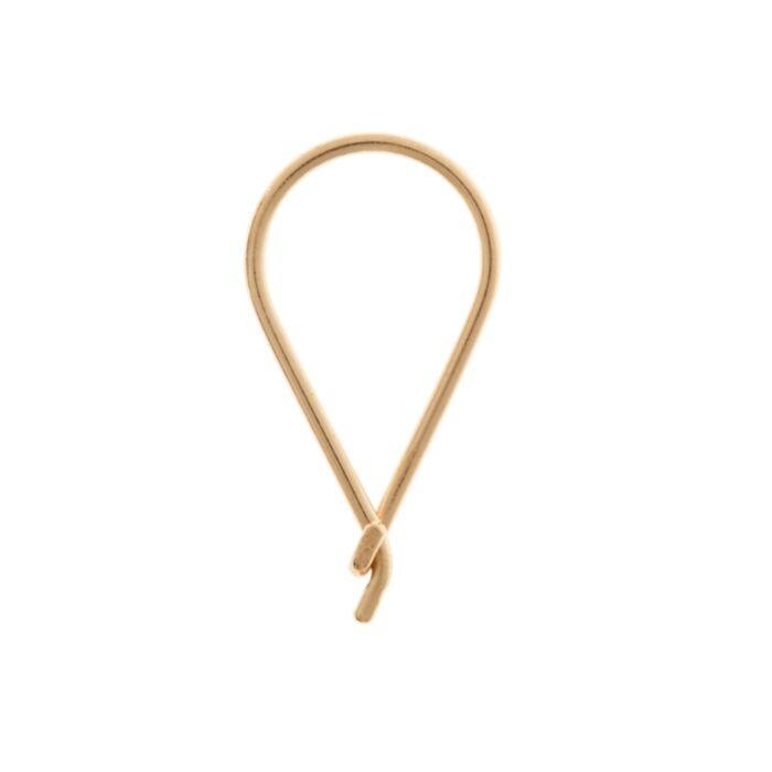 Teardrop Hoop, Yellow Gold (Single)