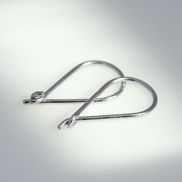 Teardrop Hoop, Silver (SINGLE) image