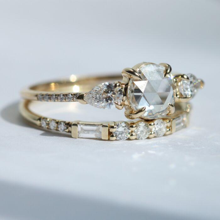 Round & Baguette Equilibrium Ring image