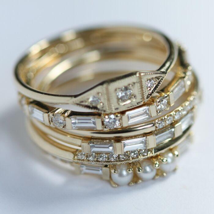 Baguette Half Eternity Ring image