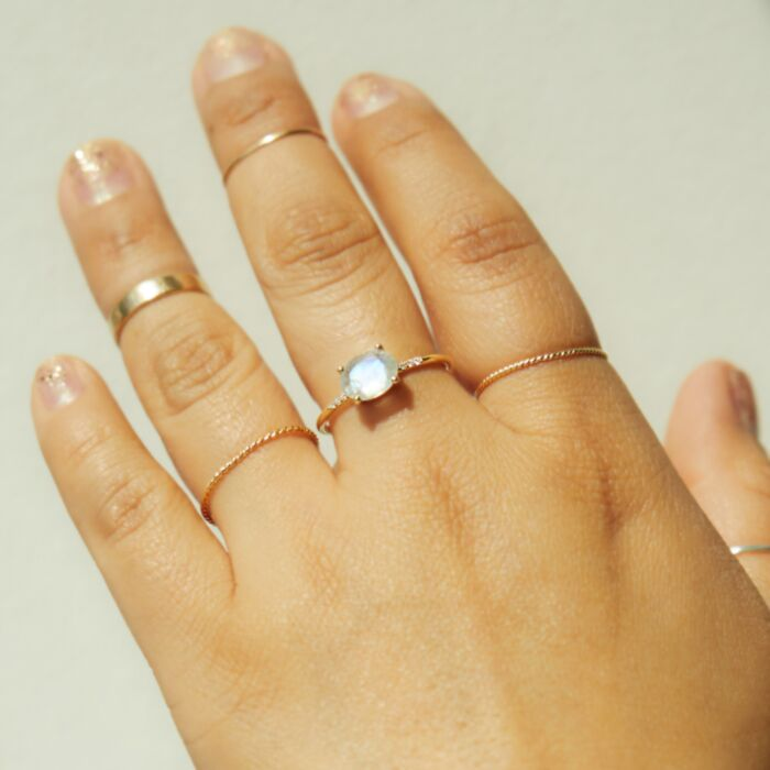 Moonstone Equilibrium Ring