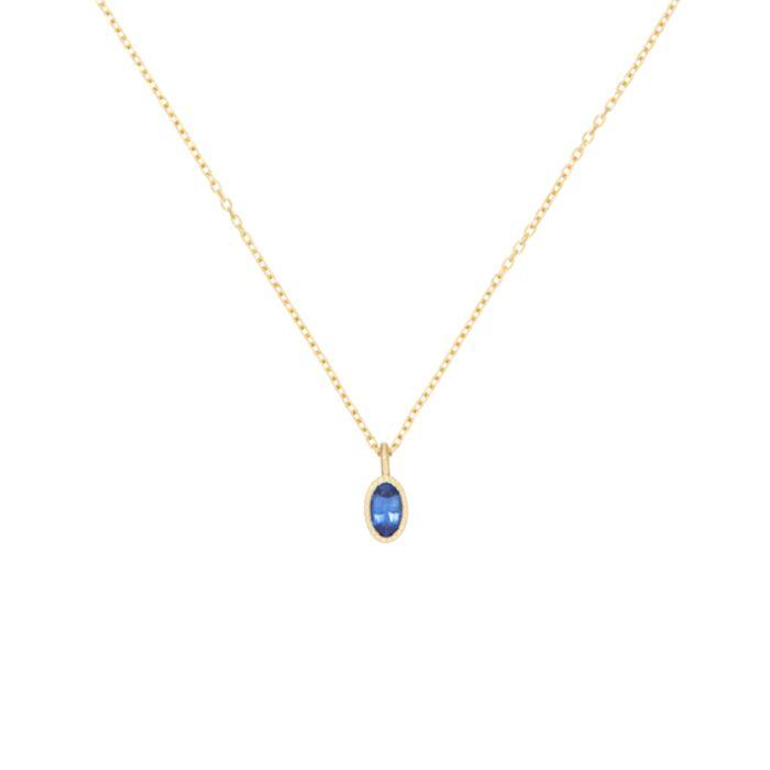 Caravaggio Necklace, Blue Sapphire