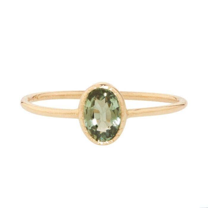 Caravaggio Ring, Green Sapphire