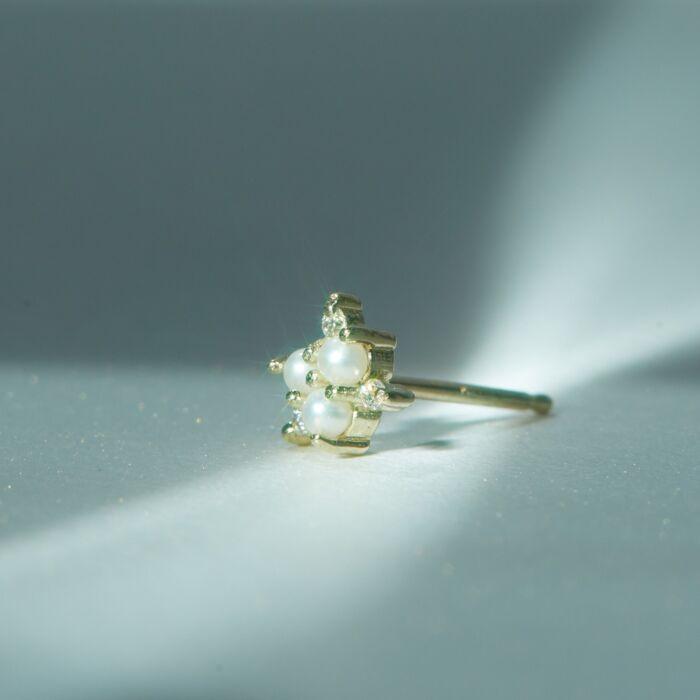 Snowflake Stud (single) image