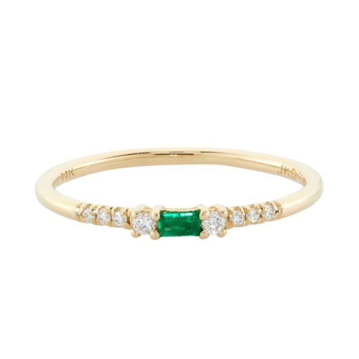Baguette Emerald Equilibrium Ring