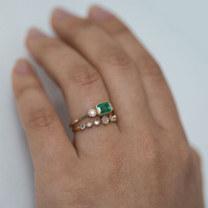 Lexie Emerald Ring image