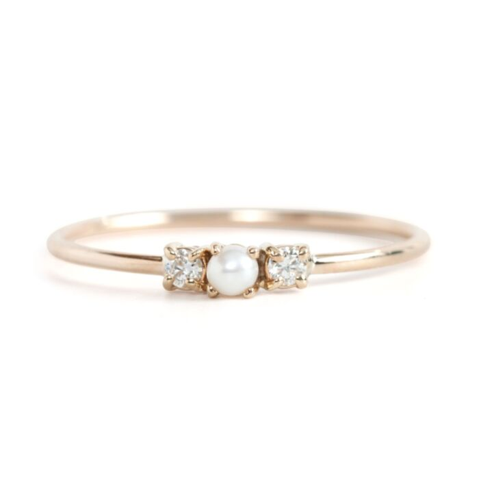 Pearl Sandwich Ring