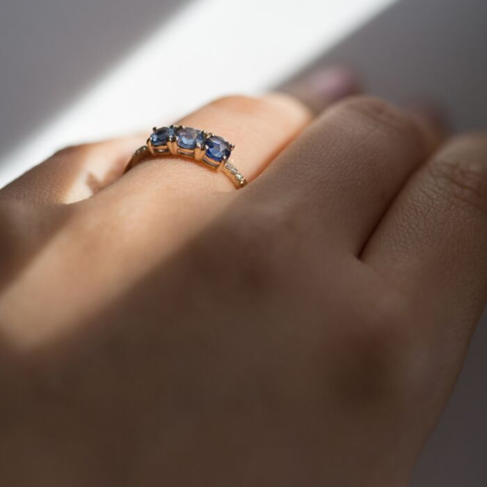 Painter's Blue Sapphire Ring image