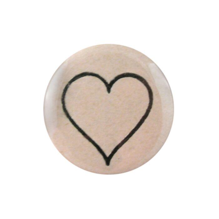 Line Heart Pocket Mirror