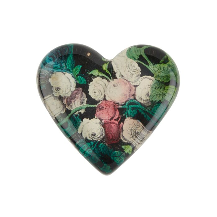 Rose Garland Heart Charm Paperweight