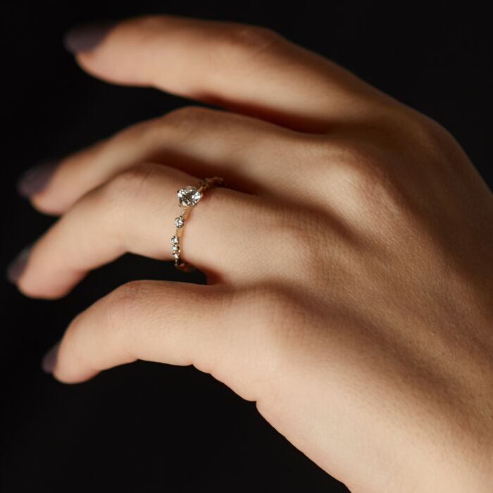 New Moon Solitaire Ring image