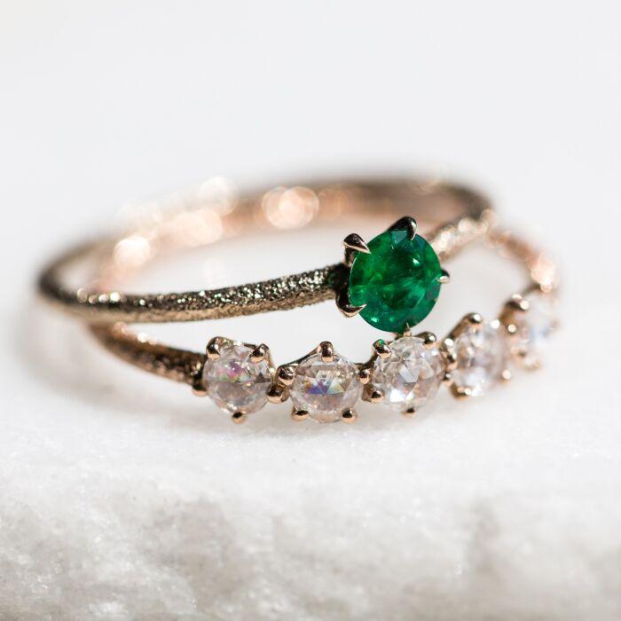 Inishmore Emerald Ring image