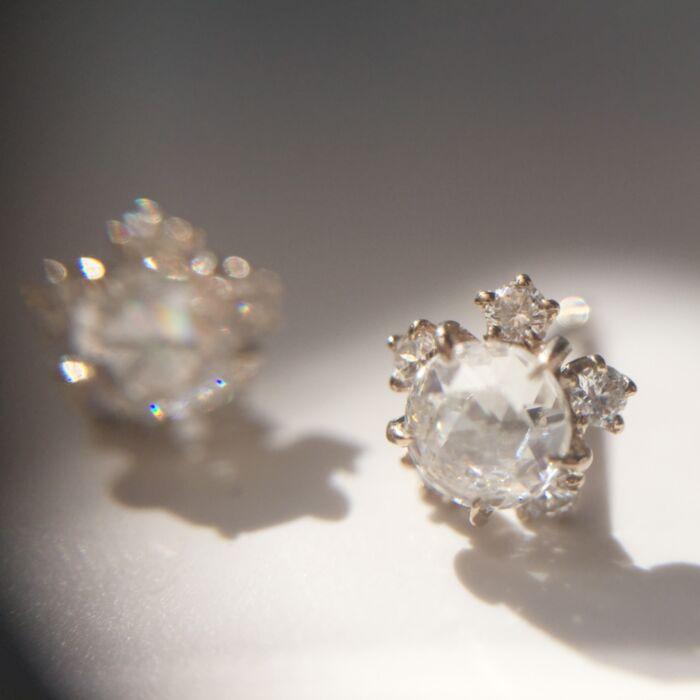 Sakura Diamond Stud Earrings