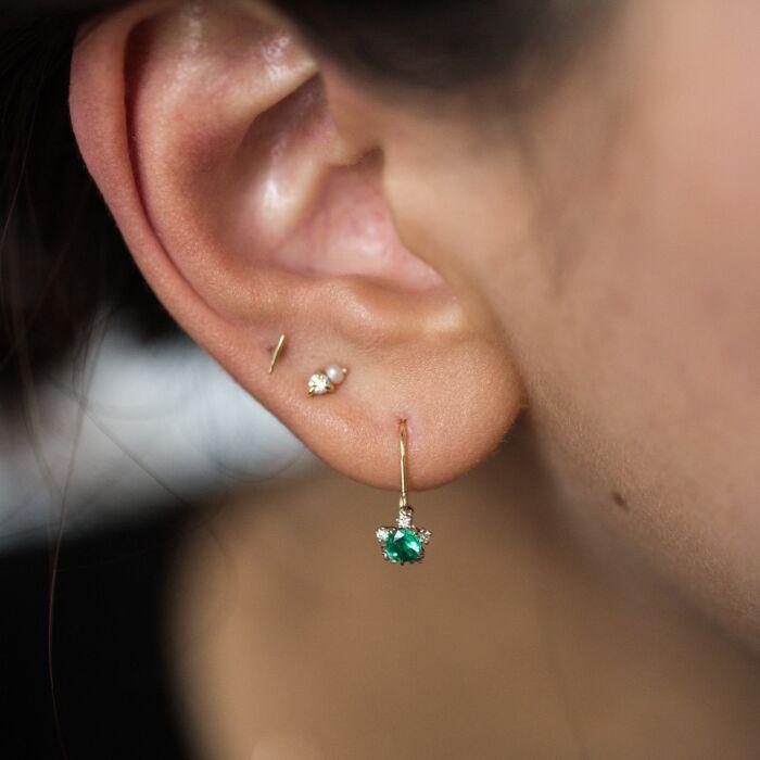 Juniper Emerald Earrings image